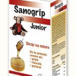 Sanogrip junior 100ml sirop cu miere